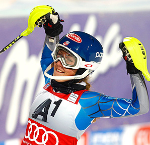 With her third World Cup victory, many are comparing Mikaela Shiffrin to skiing great Annemarie Moser-Proell.