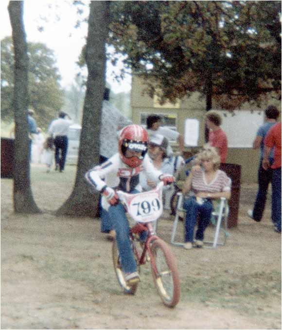 By age 10, Lance was starting to compete in some BMX bike races.