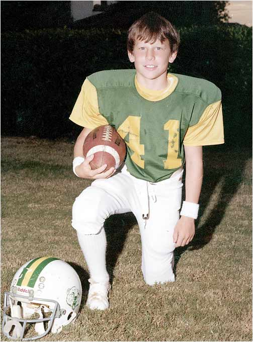Lance wasn't just a cyclist, though. He also played football for the Garland, Texas, YMCA when he was 10.