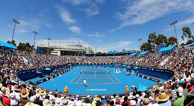 The second round of the Australian Open got under way at Melbourne Park on Wednesday.