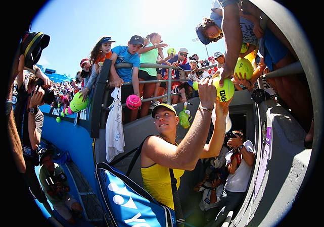 No. 5 Angelique Kerber beat Lucie Hradecka 6-3, 6-1. U.S. teen Madison Keys is next for the German.