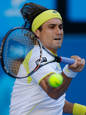 David Ferrer took advantage of 77 unforced errors by Tim Smyczek on Wednesday.