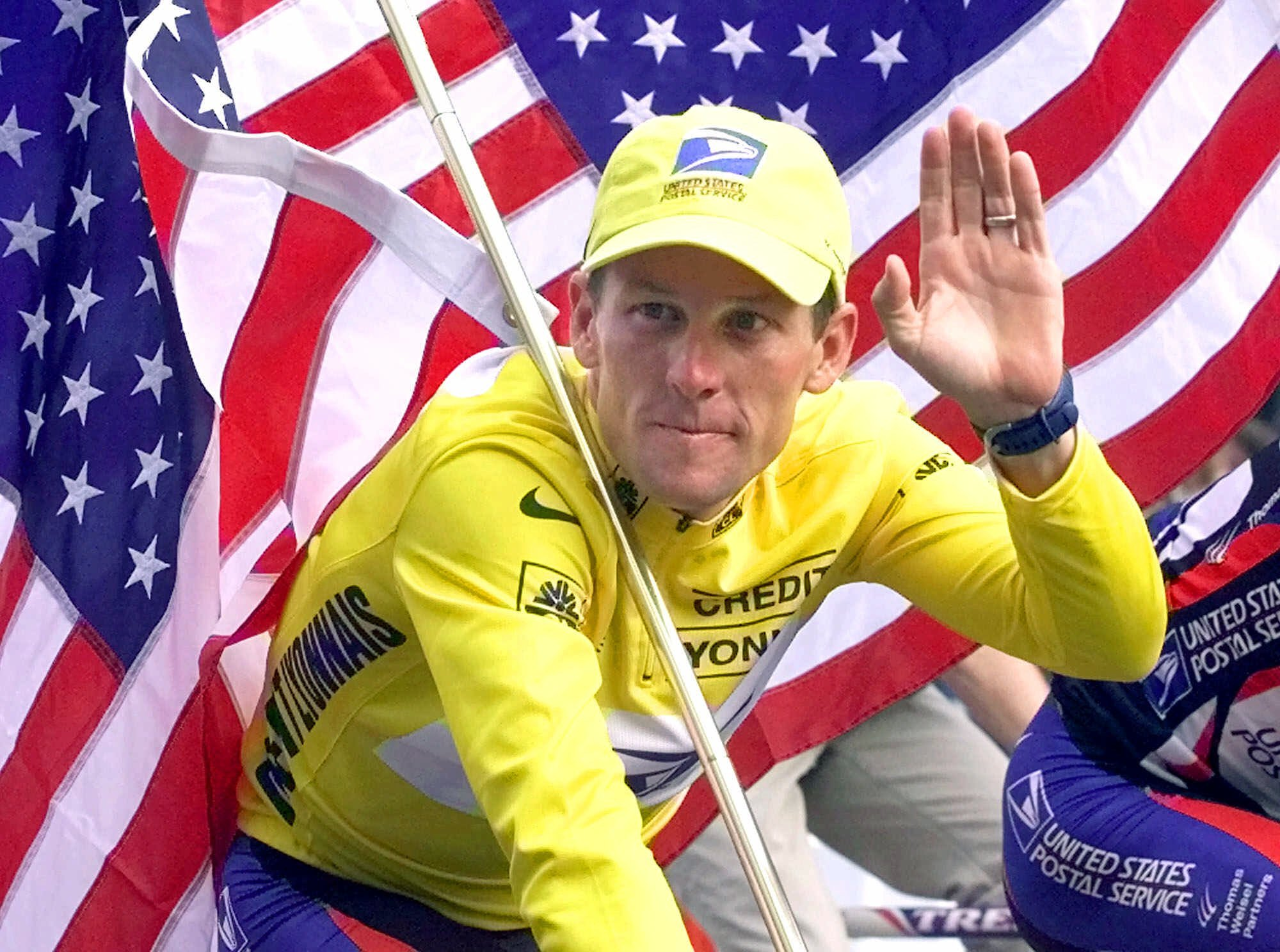 Armstrong won his second straight Tour de France in 2000.