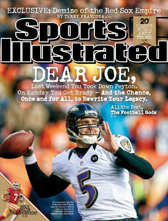 Joe Flacco has not gotten a lot of respect during his career, but that all changed last Saturday. SI's Peter King says it is time to consider Flacco as being among the best quarterbacks in the game right now. (Check out SI's web version of the magazine.)