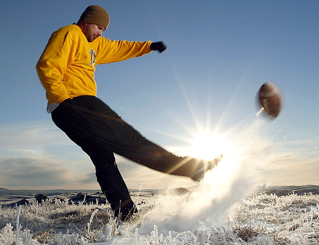 Nathan Noble is a 29-year-old veteran of the Iraq war. Now can the YouTube star make it on to the Wyoming football team as its placekicker? (Check out SI's web version of the magazine.)