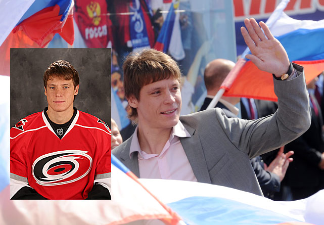 Is he the supremely skilled winger who amassed 197 goals and 408 points during six seasons with the Capitals, or the frustrating vanishing act that Washington allowed to walk as a free agent last summer? The Hurricanes are about learn the answer to that $7 million question. If Semin stays on his game (he produced seven goals and 16 points in 20 KHL games during the lockout), the retooled Hurricanes' improvement will be dramatic . His presence in Carolina will add a little spice to their Southeast battles with the Capitals. (First meeting: February 26.)
