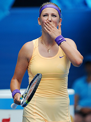 Victoria Azarenka got past Eleni Daniilidou 6-1,6-0 on Thursday.