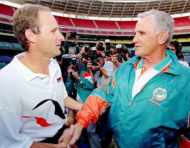 Oct. 2, 1994: Dolphins 23, Bengals 7 Oct. 1, 1995: Dolphins 26, Bengals 23 <bold>Don 2, Dave 0</bold>