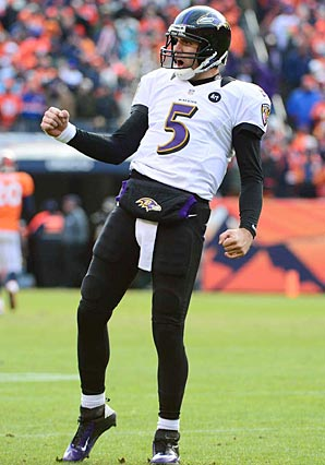 With the overtime victory over Denver, Joe Flacco has led Baltimore to the AFC title game in three of his five seasons.