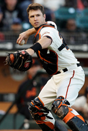 Buster Posey won NL MVP honors in 2012 while helping the Giants to their second World Series title in three years.