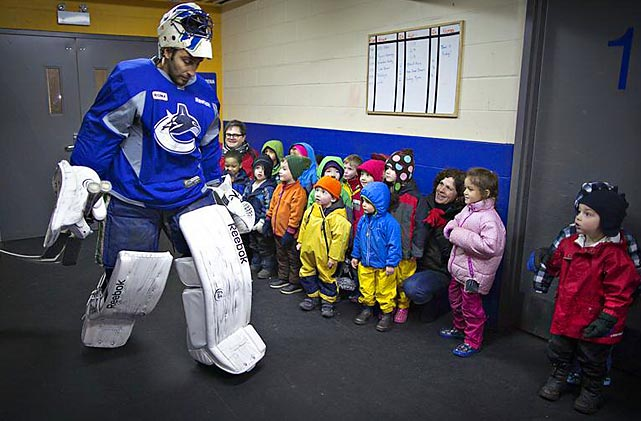 According to the HockeyBuzz rumor mill, the Canucks have traded goalie Roberto Luongo to Kidderminster Elementary School in British Columbia for a box of crayons and two tubs of paste.