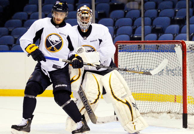 Buffalo's top draft pick Mikhail Grigorenko is on the opening day roster.