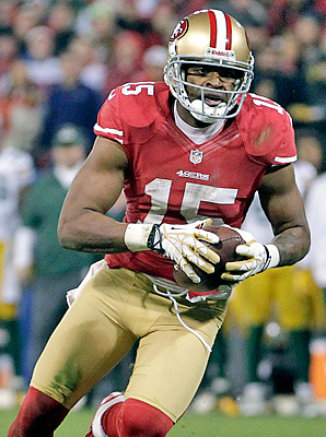 Michael Crabtree has nine catches for 119 yards in the Niners' divisional round win over the Packers.