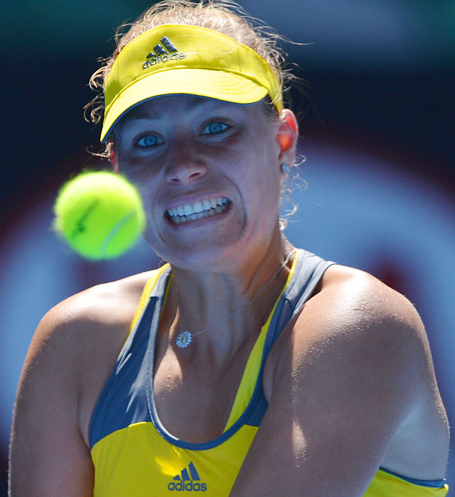 No. 5 Angelique Kerber was ousted 7-5, 6-4 by No. 19 Ekaterina Makaraova, the same woman who upset Serena Williams last year.