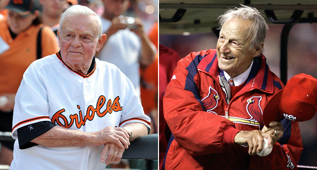 Earl Weaver (left) and Stan Musial were about as different as two Hall of Famers could possibly be.