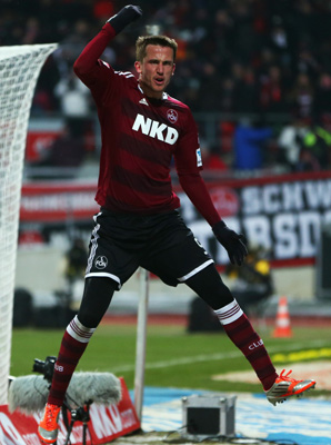 Tomas Pekhart used a perfect low cross from Timo Gebhart to volley the equalizer in the 75th minute.