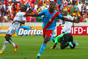 Tresor Mputu scored Congo's first goal in the 53rd minute.