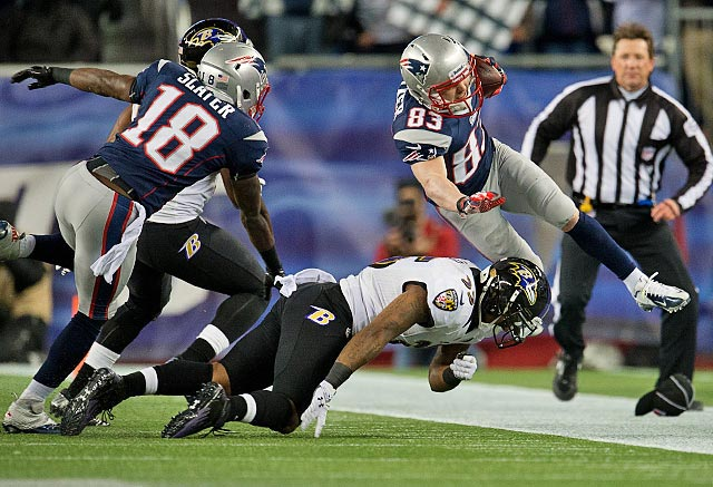 Wes Welker caught eight balls for 117 yards and one touchdown, but as in Super Bowl XLVI, he had at least one third-down conversion pass attempt go off his hands.