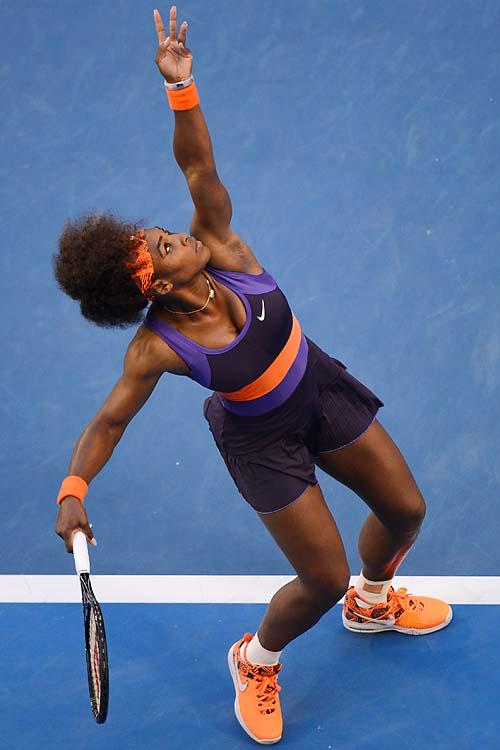 Williams made quick work of No. 14 Maria Kirilenko, 6-2, 6-0.