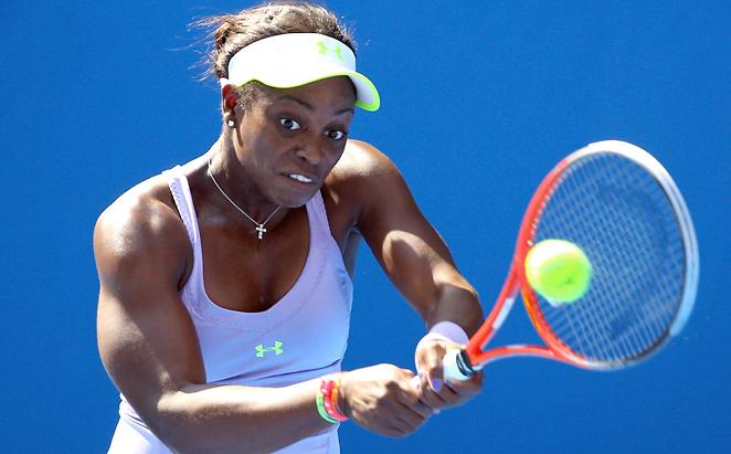 Sloane Stephens advanced to the quarterfinals with a 6-1, 3-6, 7-5 win over Serbia's Bojana Jovanovski.