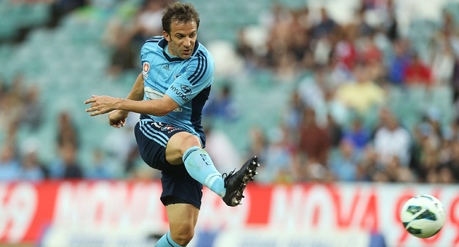 Allesandro Del Piero now plays for Sydney FC in the Australian league.
