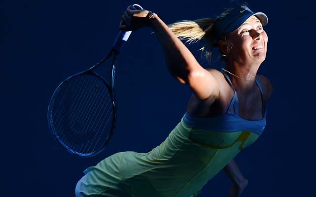 No. 2 Maria Sharapova beat Ekaterina Makarova 6-2, 6-2 to set up a semifinal with Li.