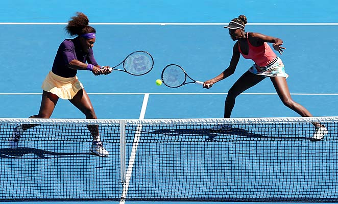 Serena Williams and Venus Williams were going for their fifth Australian Open doubles title.