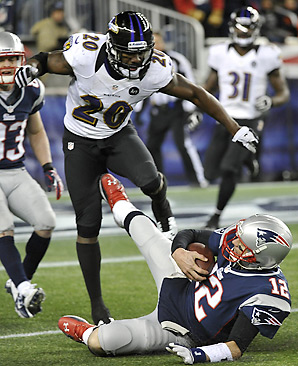 A few Ravens have expressed displeasure with Tom Brady's slide.