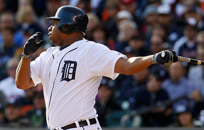 Delmon Young had a strong postseason for Detroit in 2012 and won ALCS MVP honors.
