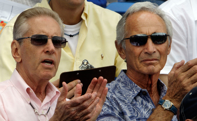 Sandy Koufax (right), shown here in 2009 with Mets owner Fred Wilpon, will be a special adviser to Dodgers chairman Mark Walter.