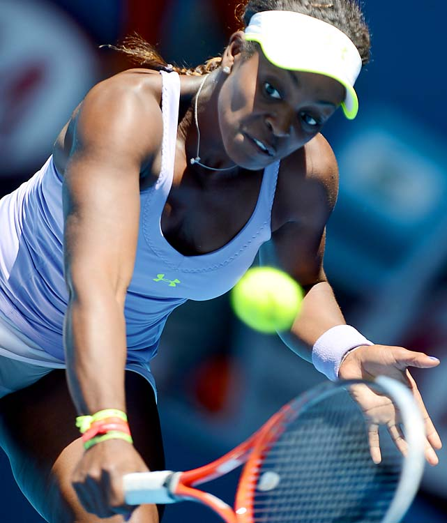 No. 29 Sloane Stephens beat No. 3 Serena Williams 3-6, 7-5, 6-4 in the quarterfinals.