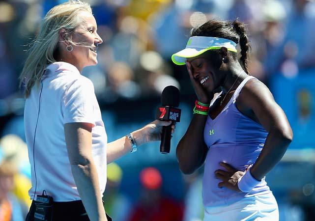 Stephens will face No. 1 Victoria Azarenka in the semifinals Thursday.