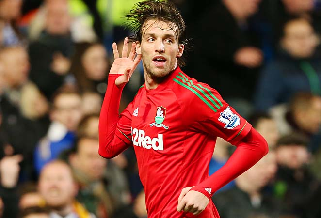 Michu ranks fourth in the Premier League with 13 goals this season for Swansea.