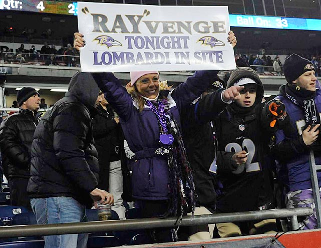 Ravens at Patriots AFC Championship Jan. 20, 2013