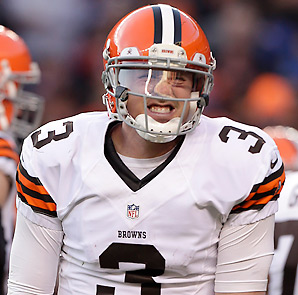 Brandon Weeden had a 72.6 rating, with 14 touchdowns and 17 interceptions, as a rookie.