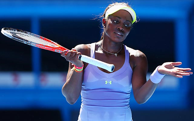 Stephens made a second-set comeback but failed to pull off a second straight major upset.