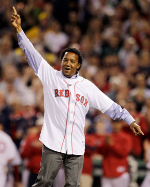 Pedro Martinez won two Cy Young awards in Boston and helped the Red Sox to the 2004 World Series title.