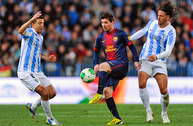 Lionel Messi scored in his 15th straight start as Barcelona ended a rare two-game losing streak.