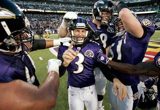 The only player on the list not to start his career in Baltimore, the kicker first plied his trade with the Browns before joining the Ravens in 1996. He scored a league-high 135 points in 2000 and set an NFL record with field goals in 32 consecutive games in 2001.