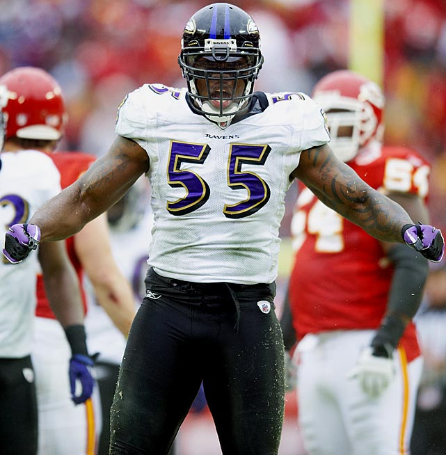 Suggs got off to a hot start and didn't slow down. In 2003, he set a franchise-rookie-record 12 sacks and continued to set a franchise-record 519 sack yards. He's also not bad at knocking the ball loose, as he's currently the Ravens' all-time leader in forced fumbles (22) and fumble recoveries (11).