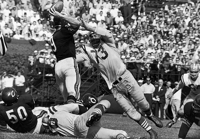 "The indestructible Italian was an ever-present thorn in his challengers' sides, not once missing a game for the 49ers from his first in 1950 to his last in 1963. ""The Lion"" is one of the few players to be recognized as All-NFL for his play on both the offensive and defensive lines."