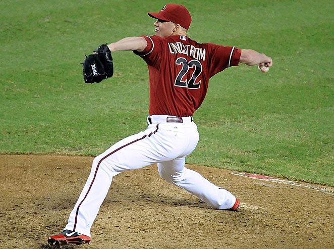 Matt Lindstrom pitched in 46 games for the Orioles and Diamondbacks in 2012.