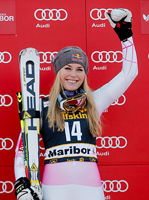 Lindsey Vonn took the crown after an intestinal illness landed her in the hospital last year.