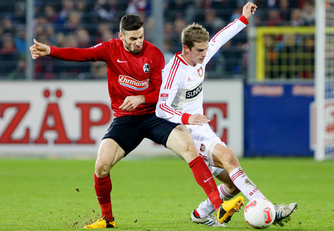 Bayer Leverkusen and Freiburg played to a 0-0 draw in Saturday's Bundesliga action.