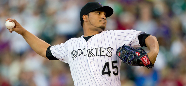Jhoulys Chacin, who turned 25 this month, went 3-5 with a 4.43 ERA in 14 starts last season.