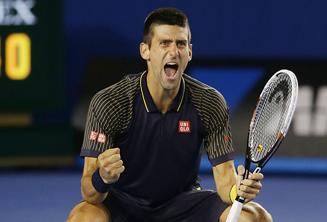 Novak Djokovic won his third straight Australian Open championship by downing Andy Murray.