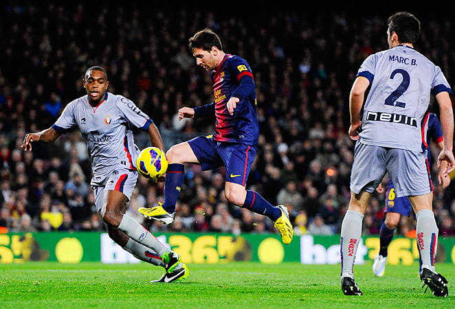 Lionel Messi led Barcelona to a 5-1 rout of Osasuna on Sunday.