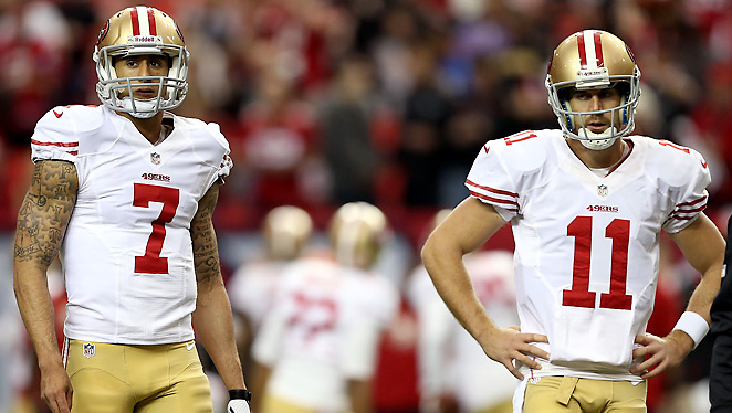 The 49ers are 7-2 under Colin Kaepernick, after starting the season 6-2-1 with Alex Smith.