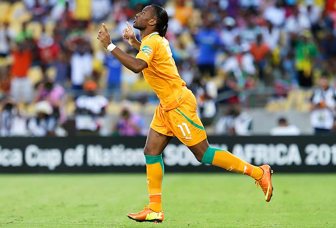 Didier Drogba is currently seeking his first Africa Cup of Nations title with Ivory Coast.