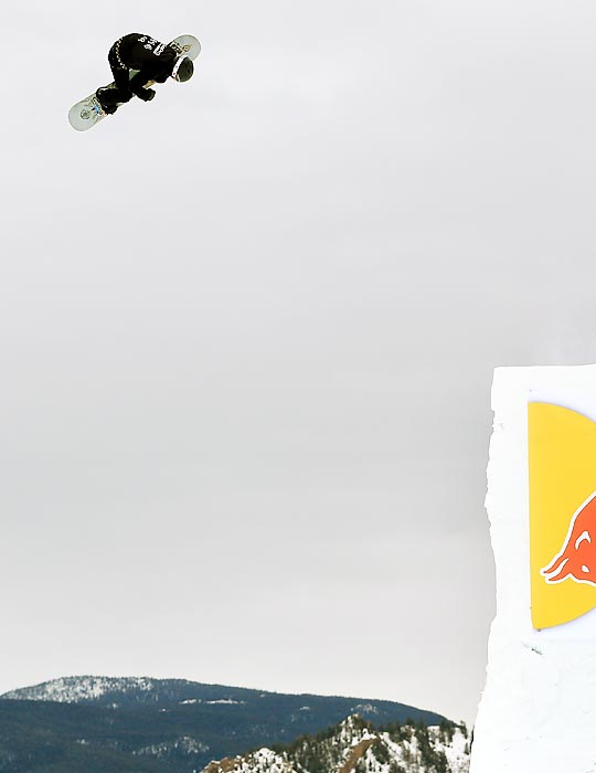 White goes airborne as he descends the course during the slopestyle competition. He last medaled in slopestyle in 2009, when he won gold.